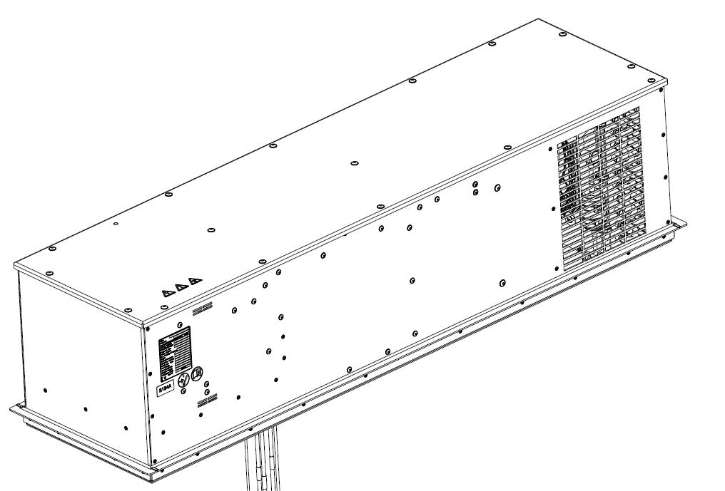 Konstruktionszeichnung Dachklimagerät