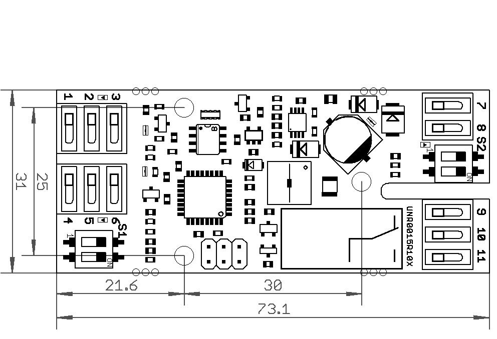 Ausführung ohne Gehäuse (UNR0016E)